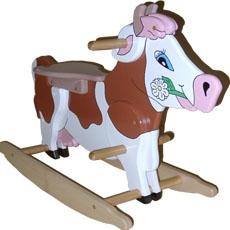 mic 39 jouebois jouet vache en bois a bascule mic0007. Black Bedroom Furniture Sets. Home Design Ideas